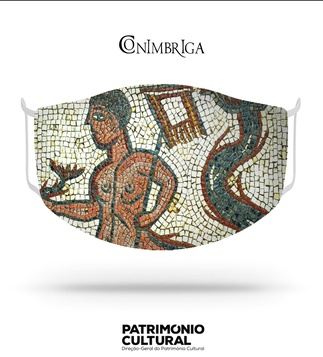 <p>Adaptation<br /><br />Reusable / washable social textile mask inspired by a detail of the Roman mosaic of Centauro Marinho of Casa dos Repuxos, dating from the 2nd-3rd century.<br /><br />- Size M<br />- Level 3 protection certified by CITEVE<br />- Composition: 100% polyester<br />- Includes 5 TNT filters<br />- Washable at 60º<br />- Made in Portugal<br /><br />Museu Monográfico de Conimbriga - Museu Nacional</p>
