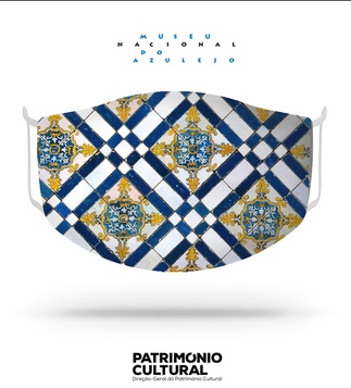 <p>Adaptation<br /><br />Reusable / washable textile social mask, inspired by a detail of a rich chequered azulejo panel.</p>