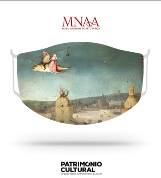 <p>Adaptation<br /><br />Reusable / washable social textile mask inspired by a detail from the Hieronymus Bosch triptych Tentações de Santo Antão, from the end of the 15th century.</p>
