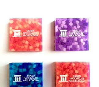 <p>Square colored rubber inspired by the roman mosaics.</p>